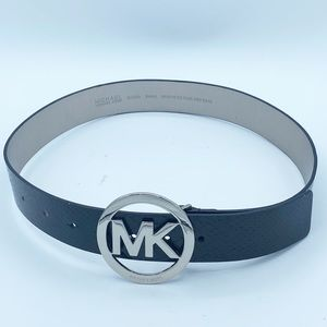 MICHAEL KORS Black Snake Belt, SIZE S